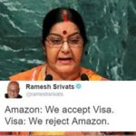 Twitter abuzz after Sushma Swaraj asks Amazon to withdraw doormats depicting Indian national flag