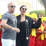 Vin Diesel in India with Deepika Padukone; welcomed with dhol, tilak
