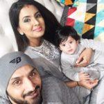 ADORABLE! Harbhajan Singh, Geeta Basra celebrate first Lohri with their bundle of joy Hinaya!