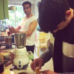 CUTE! Akshay Kumar and son Aarav become chefs for Twinkle Khanna! My Boys well trained, says Twinkle!