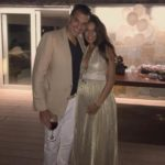 Lisa Haydon flaunts baby bump in a gold shimmery gown