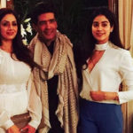 Sridevi And Daughter Jhanvi Were The Stars Of Manish Malhotra's Party.