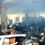 PU administrative block gutted