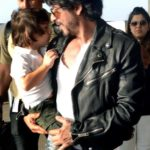 Shah Rukh Khan, AbRam twinning in black at a Dentist clinic!